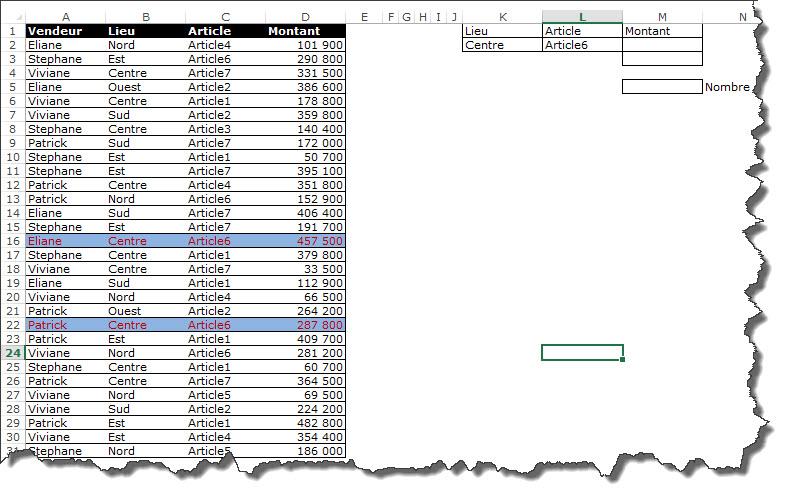 Comment utiliser la fonction somme en matricielle video1 for Comment utiliser la filasse