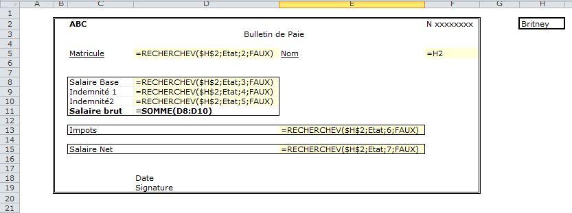 4 Gerer La Paie Avec Excel Edition Des Bulletins De Paie Avec