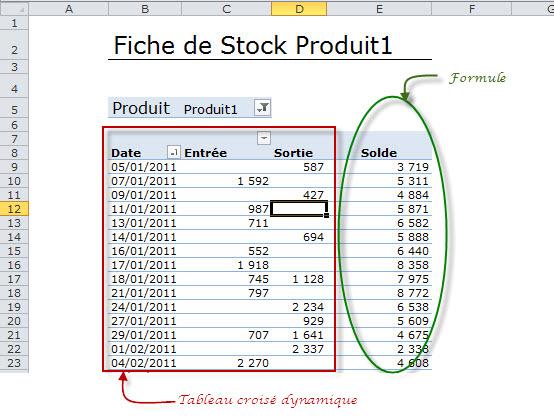 suivi stock et fiche de stock avec excel partie 2