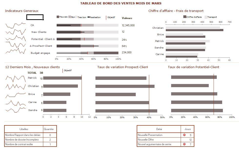 Exemple Mise En Place Tableau De Bord Commercial Tss Performance